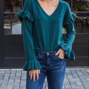 BB Dakota ruffled sweater